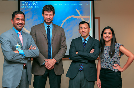 From Left:  Drs. Varkey, Crozier, Yeh and Shantha