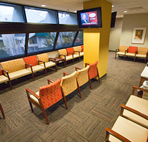 Clinic waiting room, 3rd floor, Emory Clinic Building B