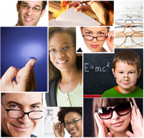 People with various eyewear